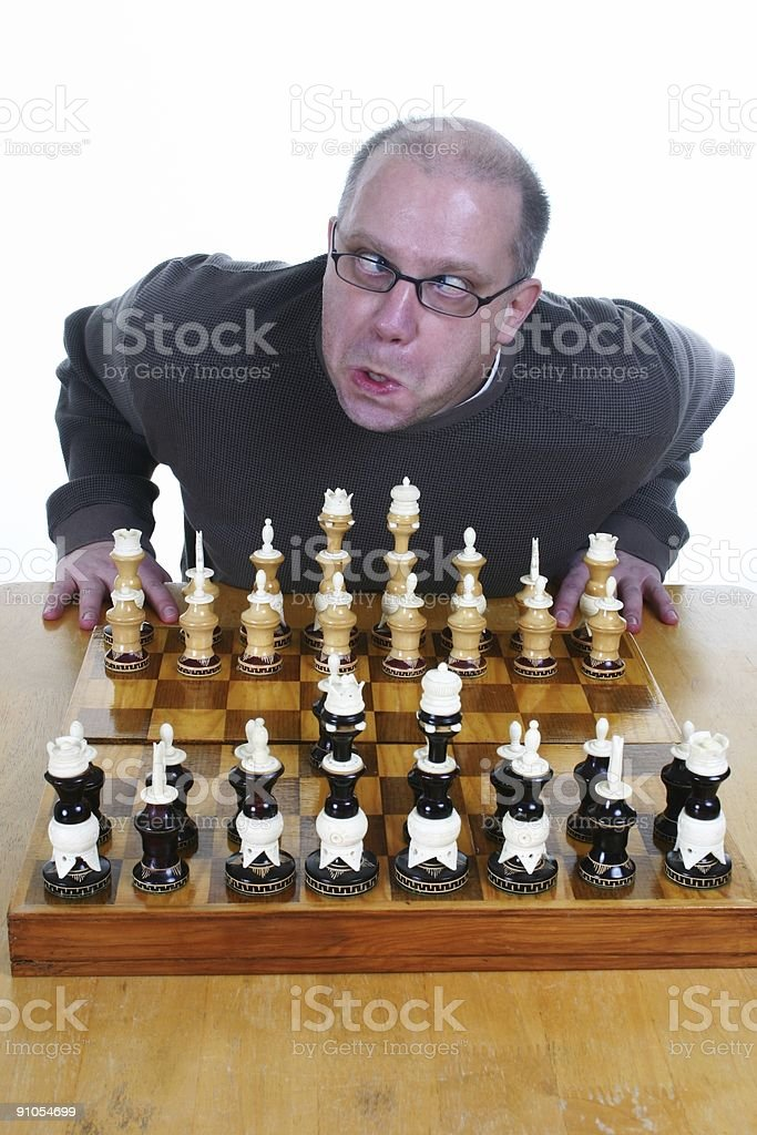 Dumb Chess Player royalty-free stock photo