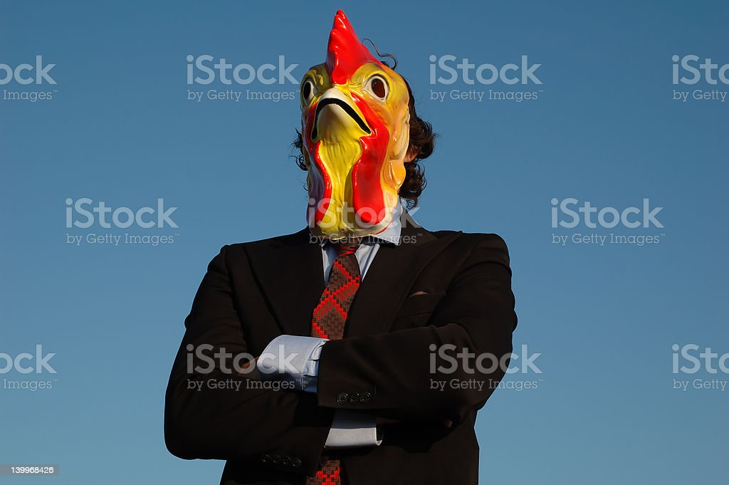 dumb looking business man in suit. stock photo