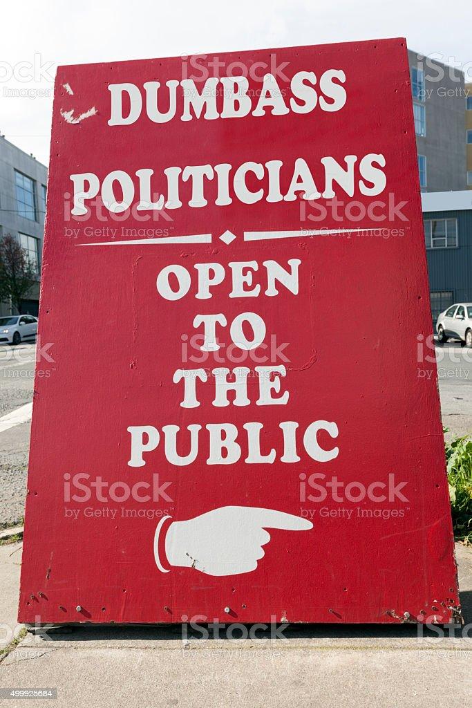 Dumbass Potliticians stock photo