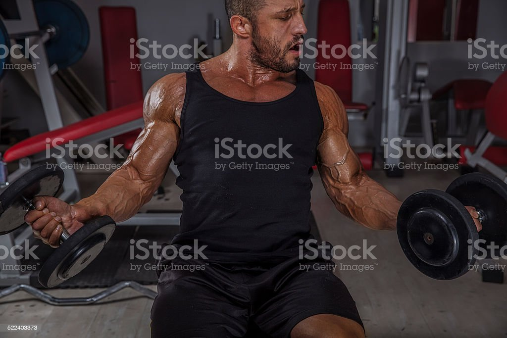 Dumbbell Biceps Curls stock photo