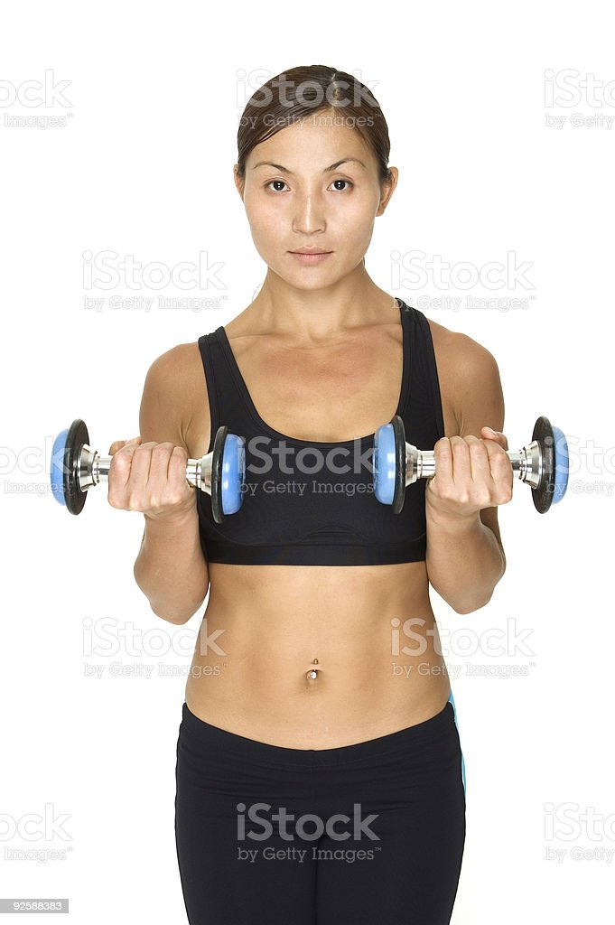 Dumbbell Curl 2 royalty-free stock photo
