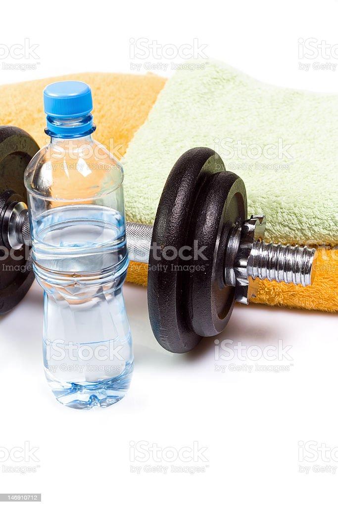 Dumbbell exercise equipment royalty-free stock photo