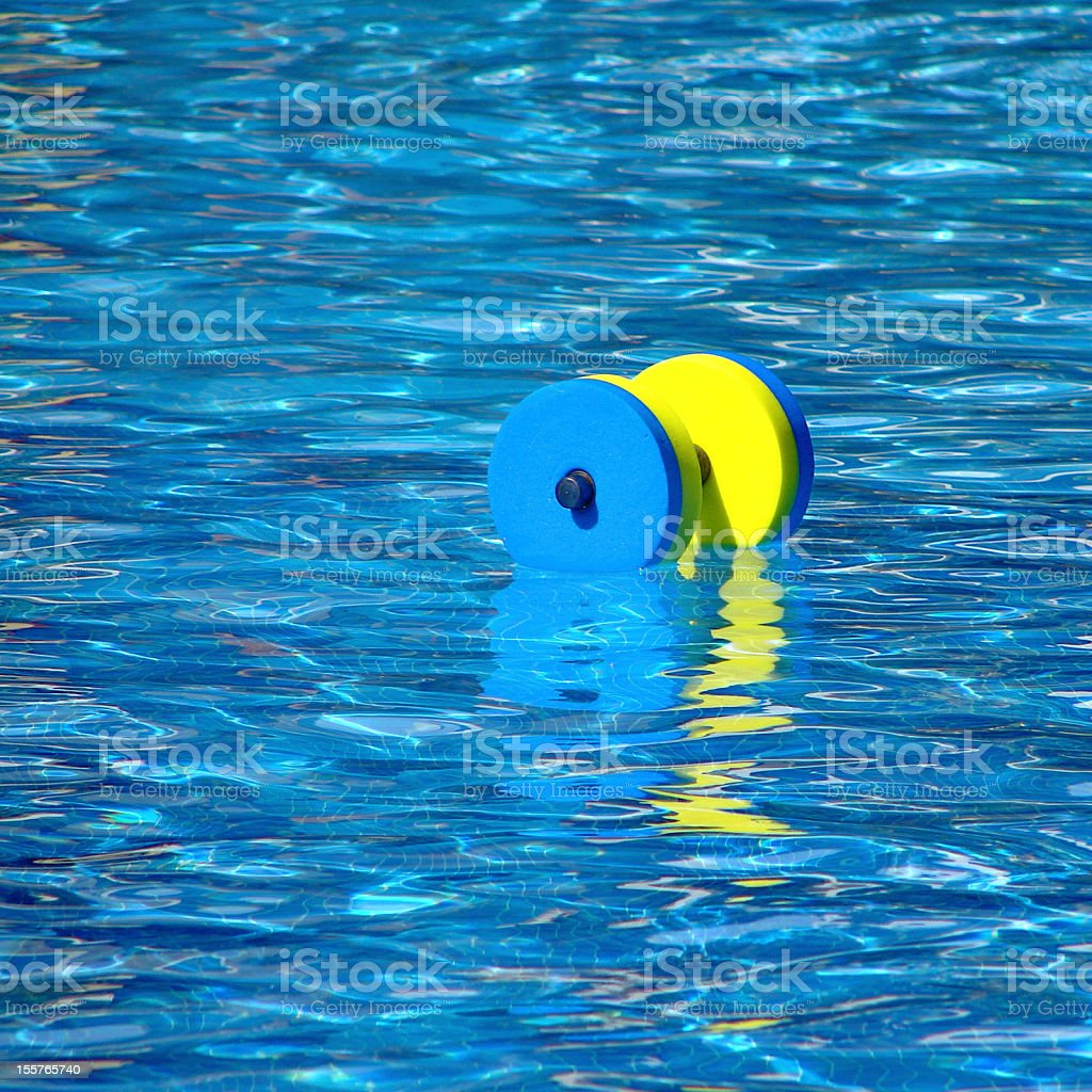 Dumbbell for water aerobics royalty-free stock photo