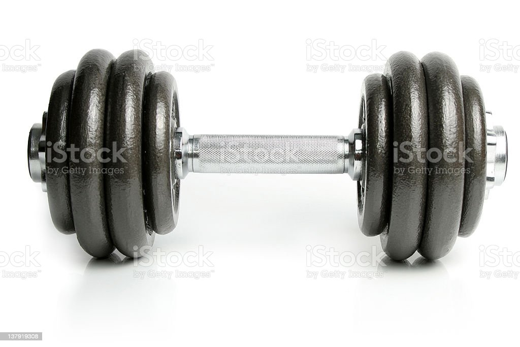 Dumbbell isolated on white royalty-free stock photo