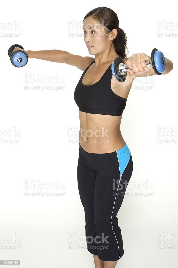 Dumbbell Lateral Raise 4 stock photo