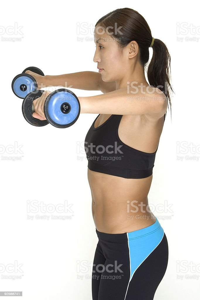 Dumbbell Lateral Raise 6 royalty-free stock photo