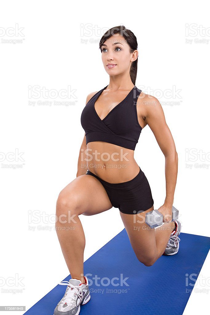Dumbbell Lunge royalty-free stock photo