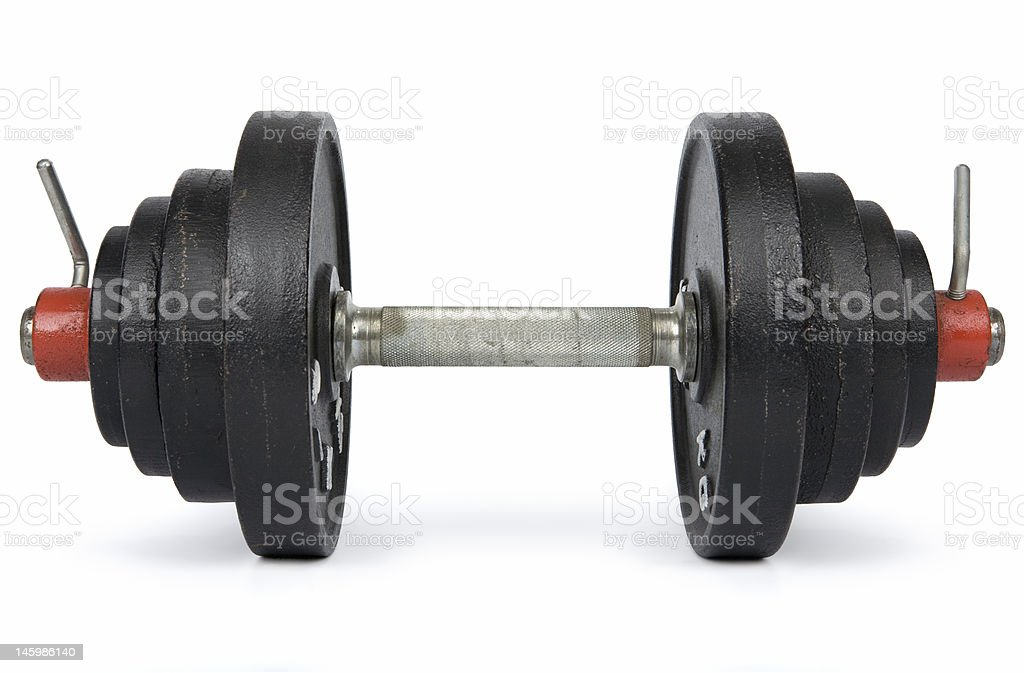 Dumbbell royalty-free stock photo
