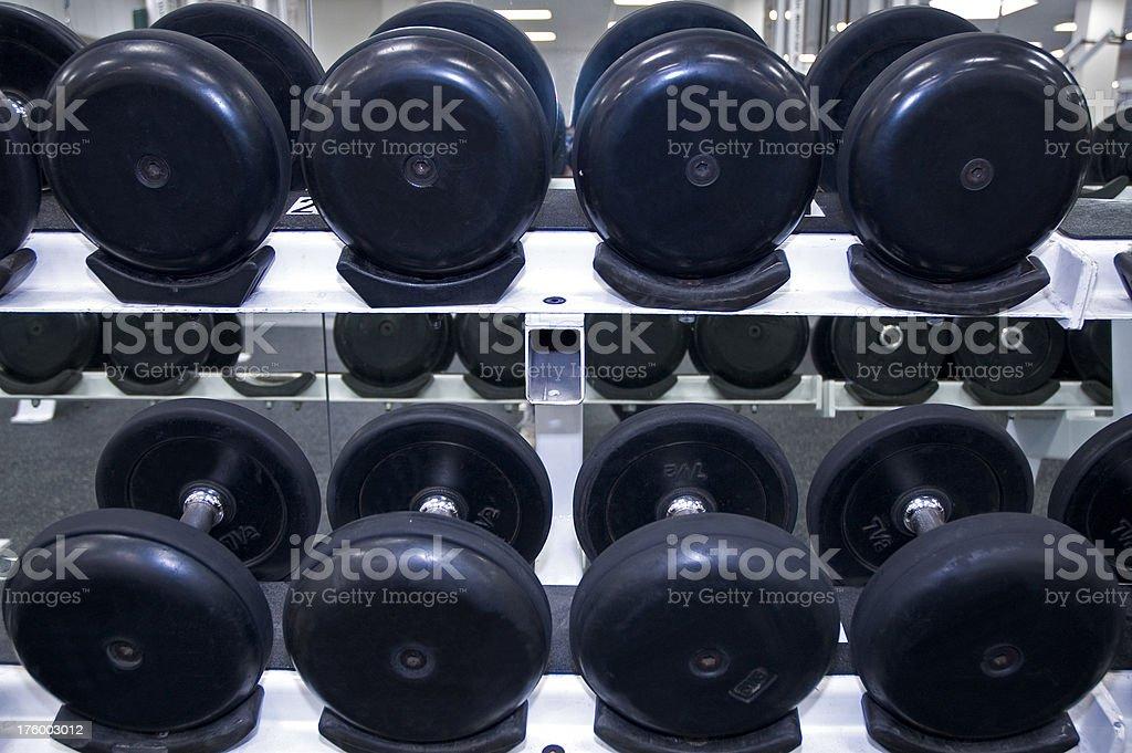 Dumbbell Rack stock photo
