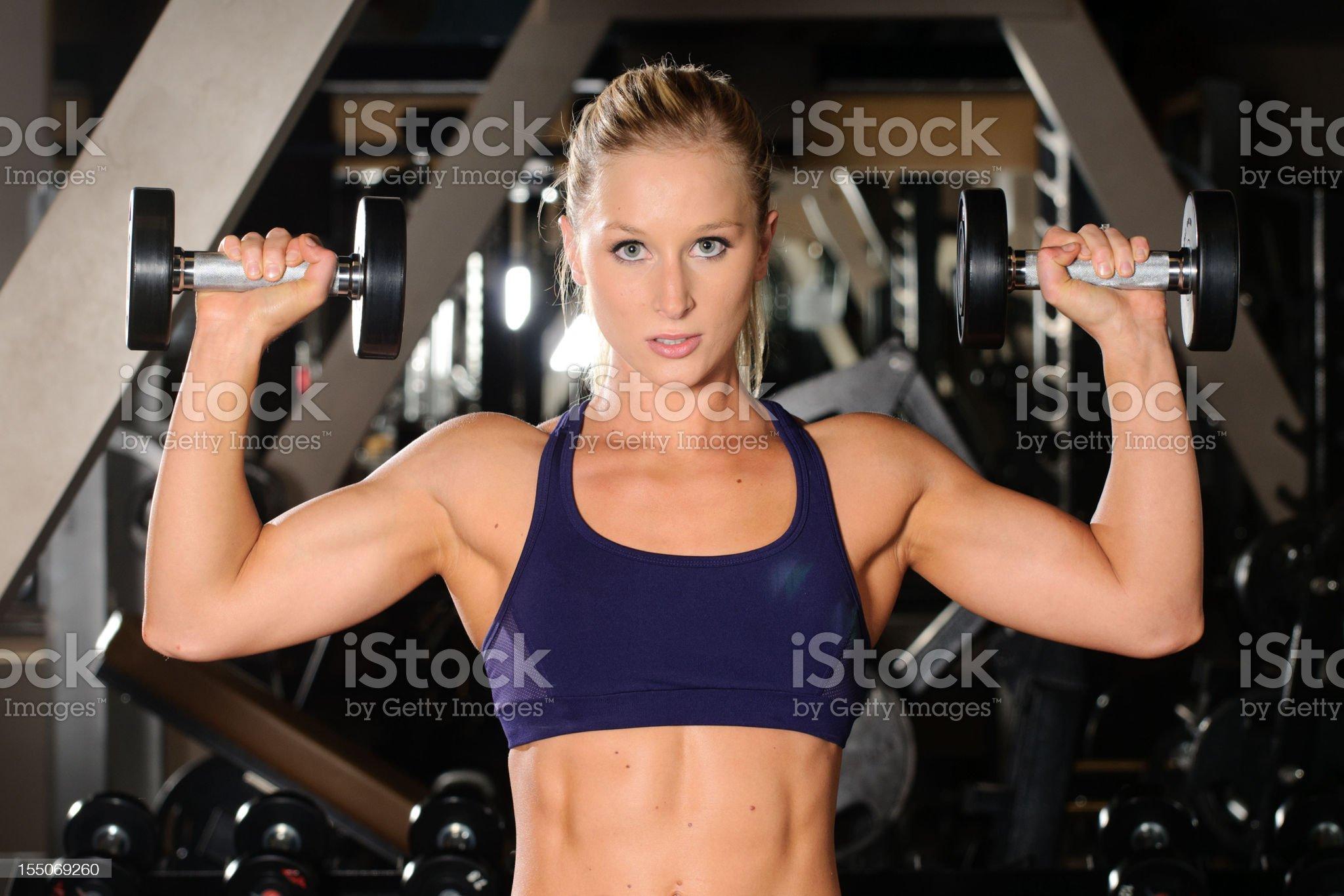 Dumbbell Shoulder Press royalty-free stock photo