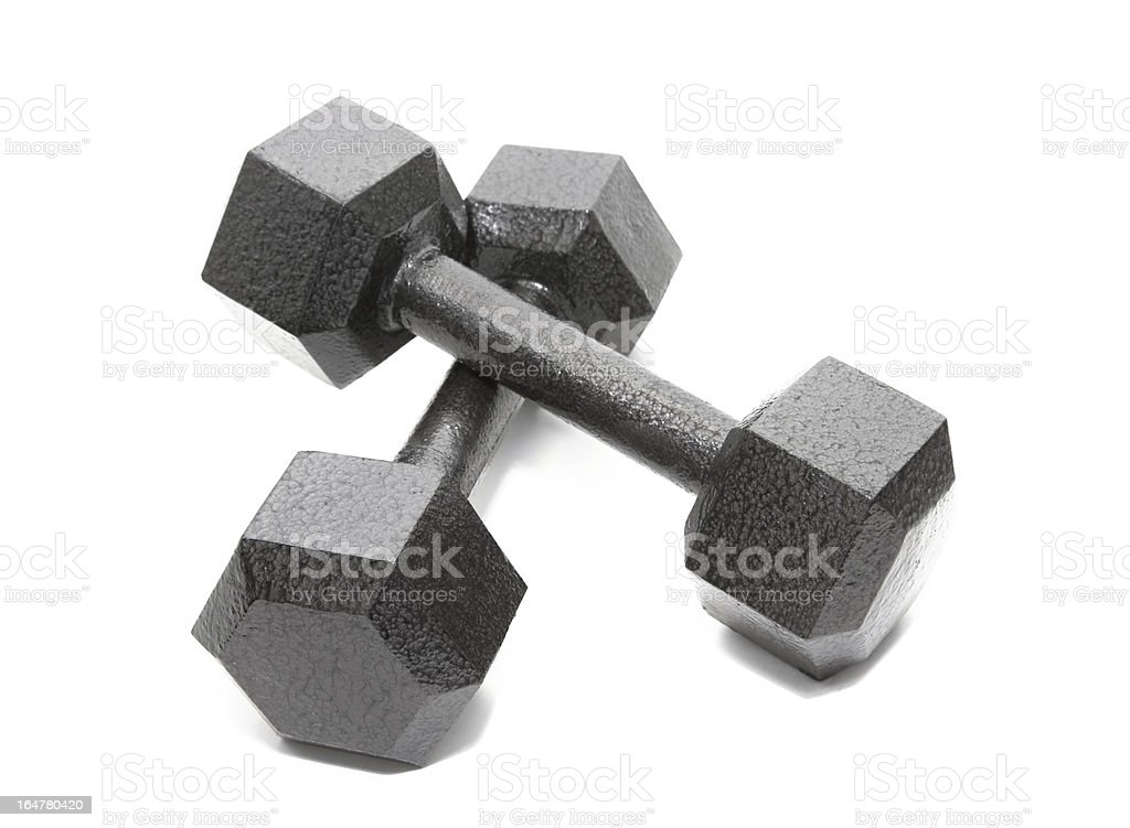 Dumbbell Weights royalty-free stock photo