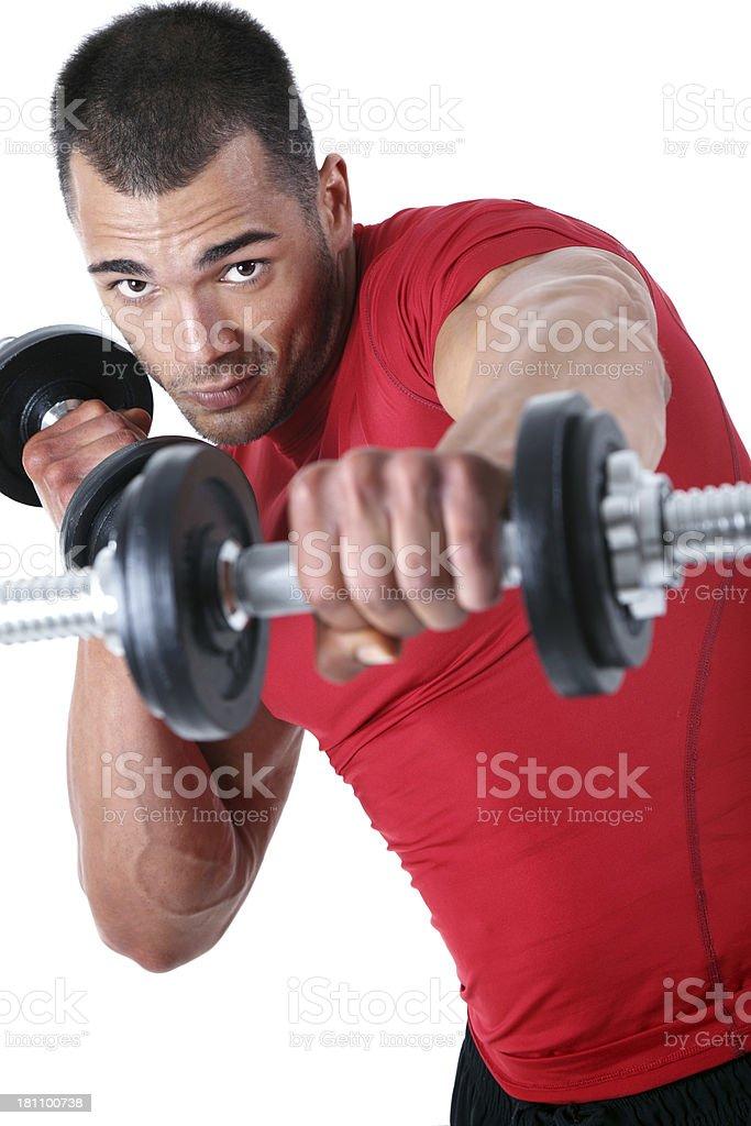 Dumbbells exercise royalty-free stock photo