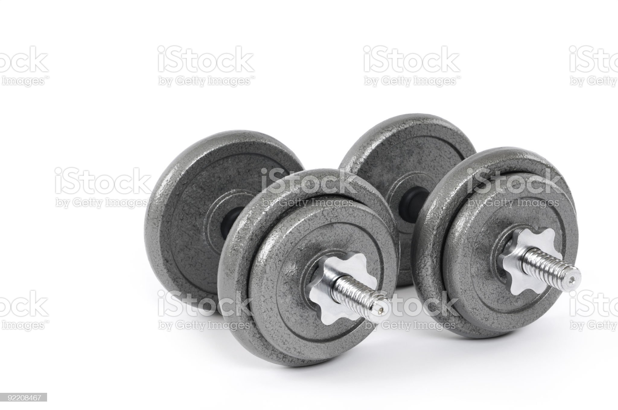 Dumbbells royalty-free stock photo