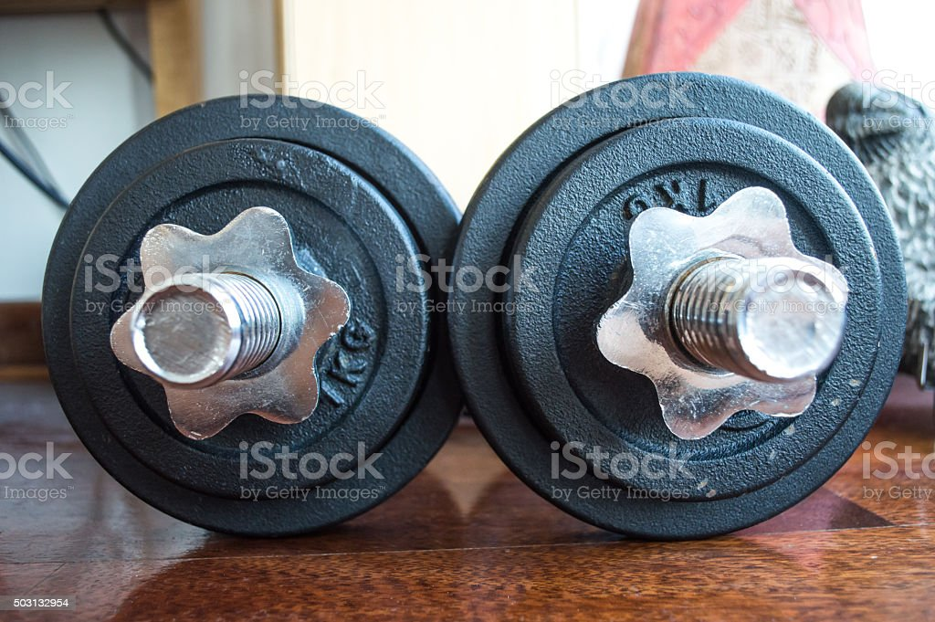 Dumbbells/Weights Background royalty-free stock photo