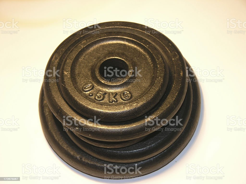 Dumbell Weights - isolated stock photo