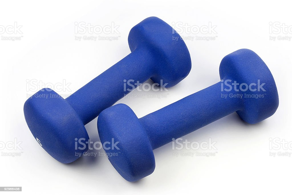 Dumbells royalty-free stock photo