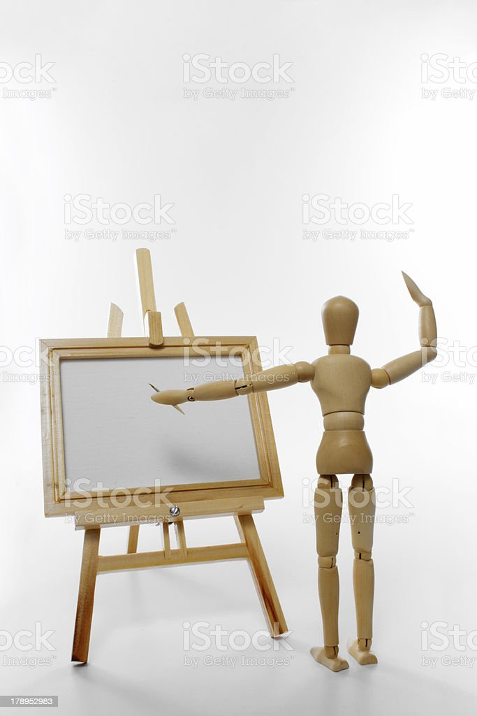 Dummy painter royalty-free stock photo