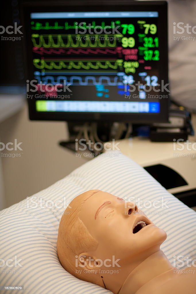 Dummy Patient in Hospital stock photo