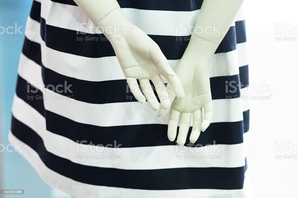 Dummy plastic hands stock photo