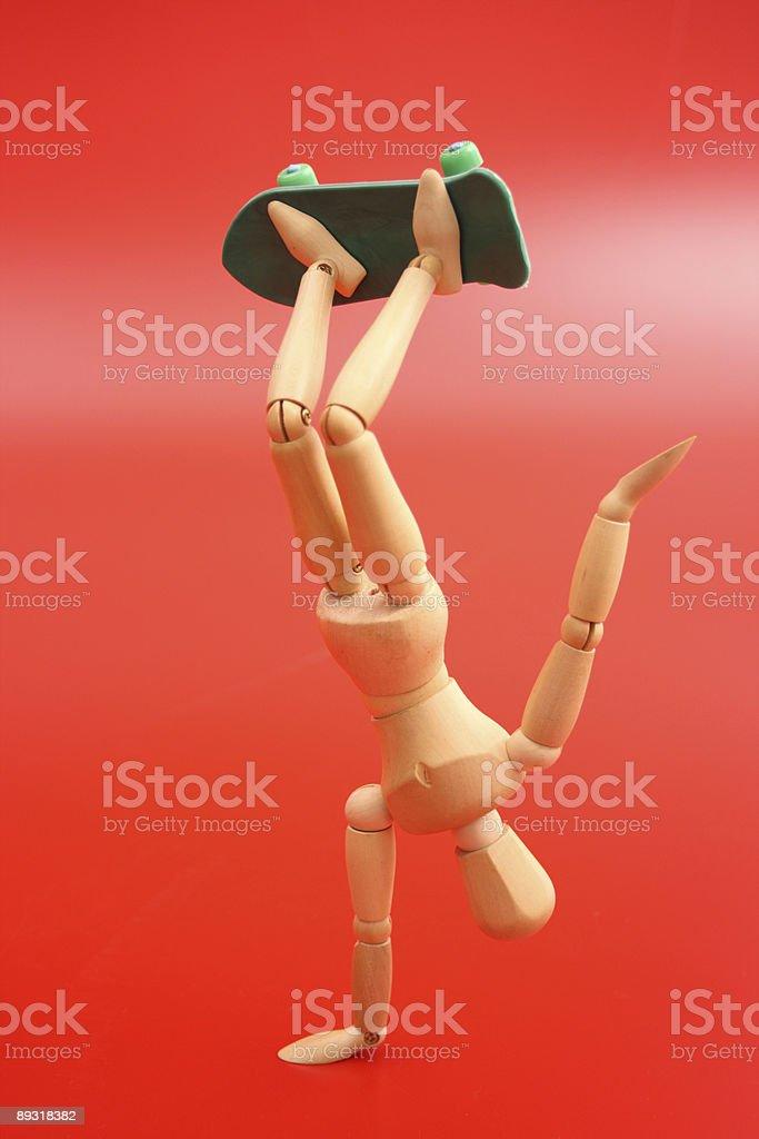 Dummy skating manuever royalty-free stock photo