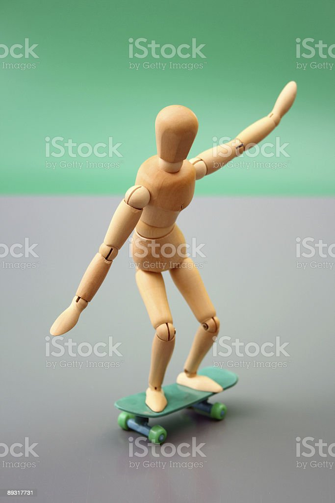 Dummy skating royalty-free stock photo