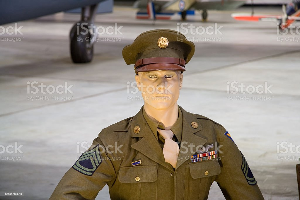 Dummy Soldier royalty-free stock photo