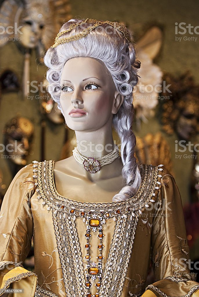 dummy Venetian costume,Mannequin ,Carnival in Venice royalty-free stock photo
