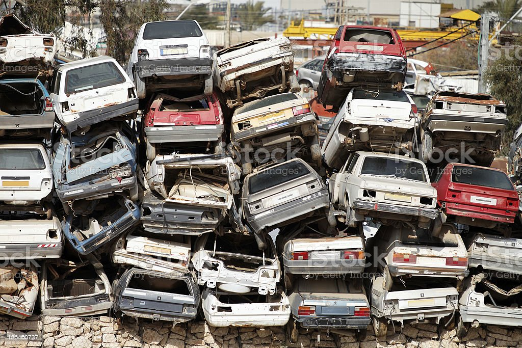 dump cars royalty-free stock photo