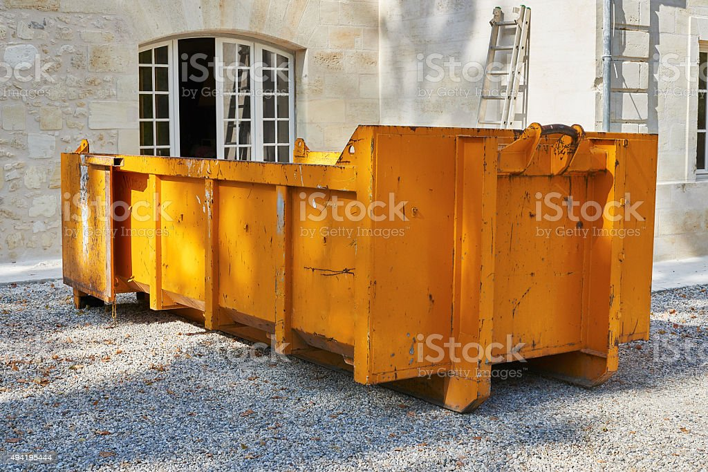 Dump demolition material stock photo