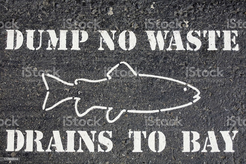 dump no waste sign stock photo