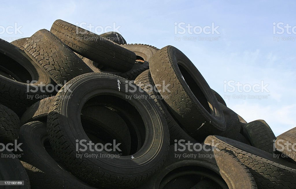 Dump of tires royalty-free stock photo