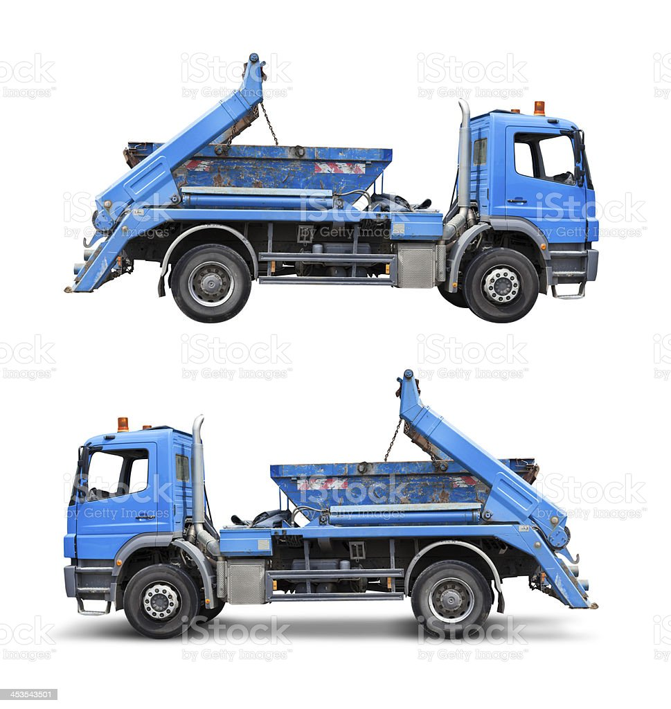 Dump truck, isolated on white with clipping path royalty-free stock photo