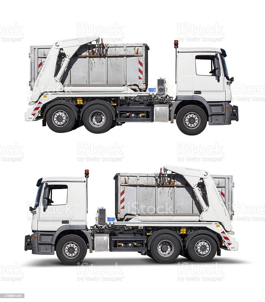 Dump truck, isolated on white with clipping path stock photo