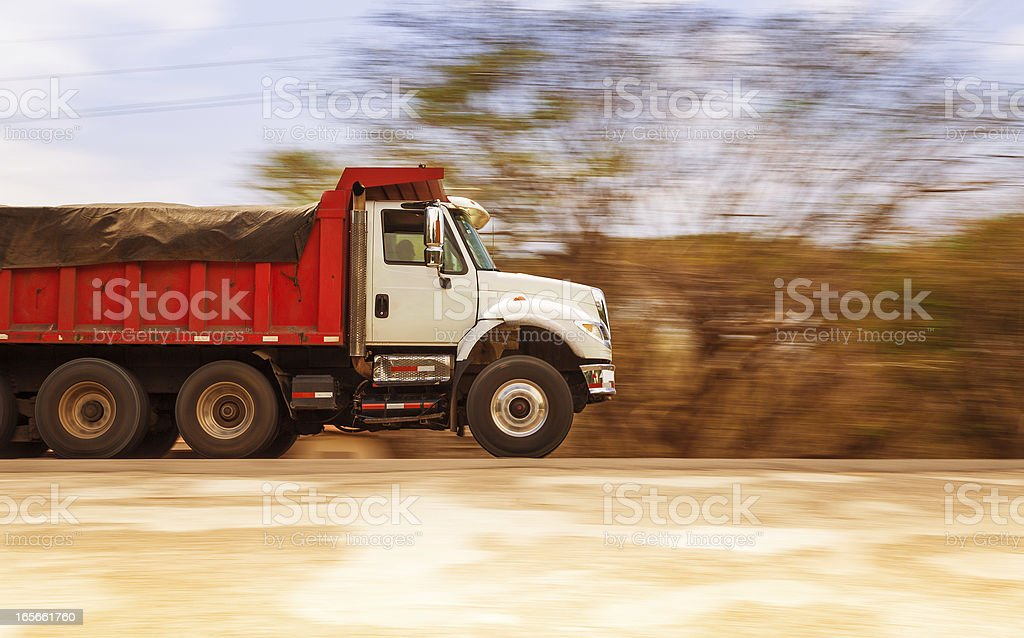 dump truck stock photo