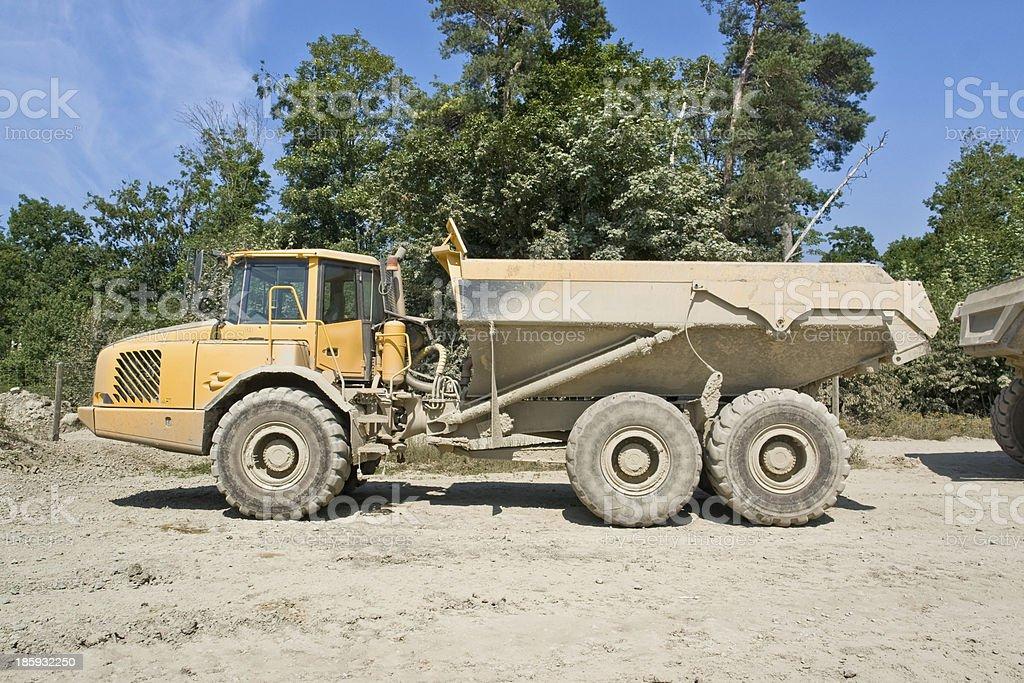 dump truck royalty-free stock photo
