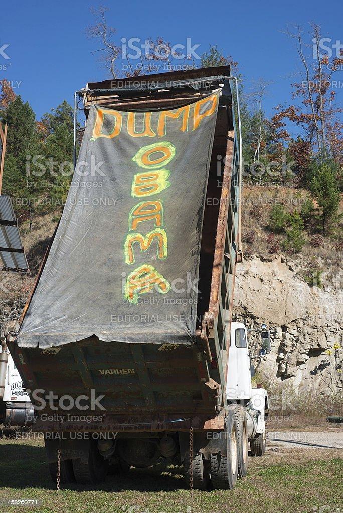 Dump Truck Sign stock photo