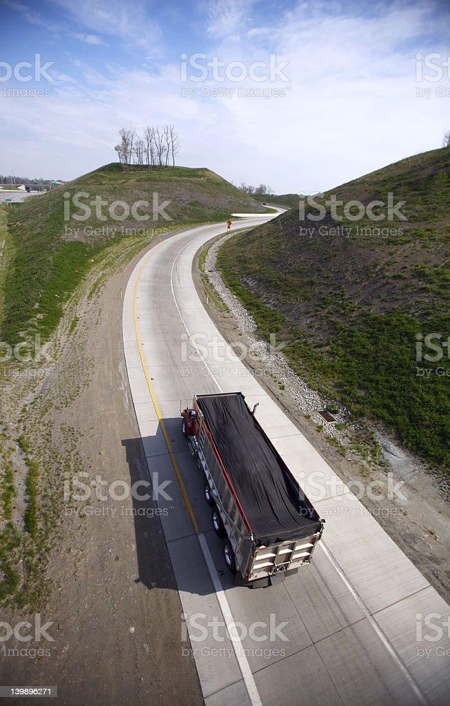 Dump Truck Top View (Wide) stock photo