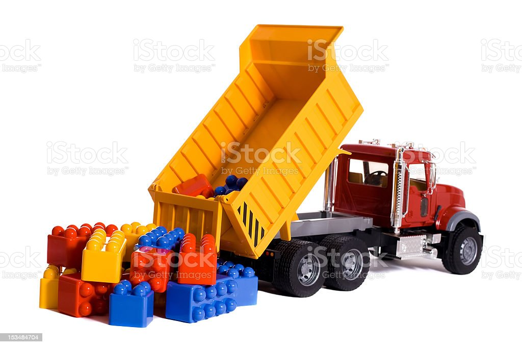 Dump truck toy royalty-free stock photo
