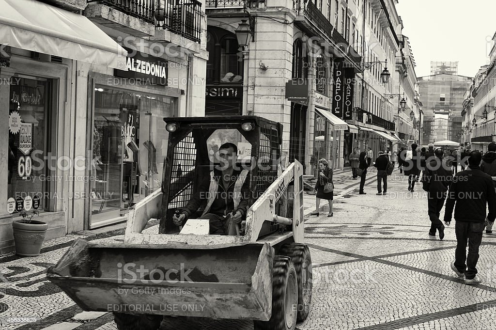 Dumper in Lisbon royalty-free stock photo