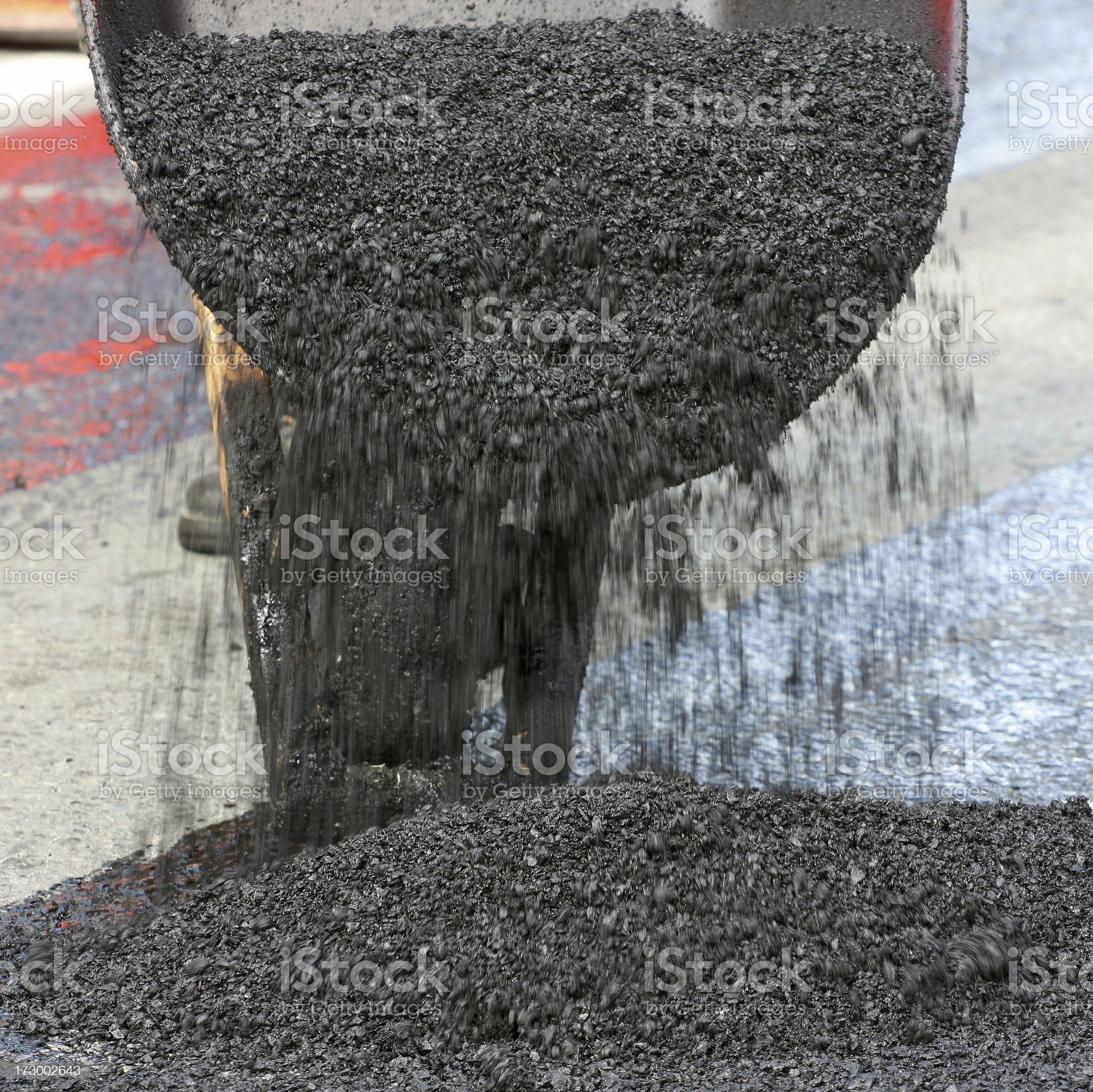 Dumping Hot Asphalt royalty-free stock photo