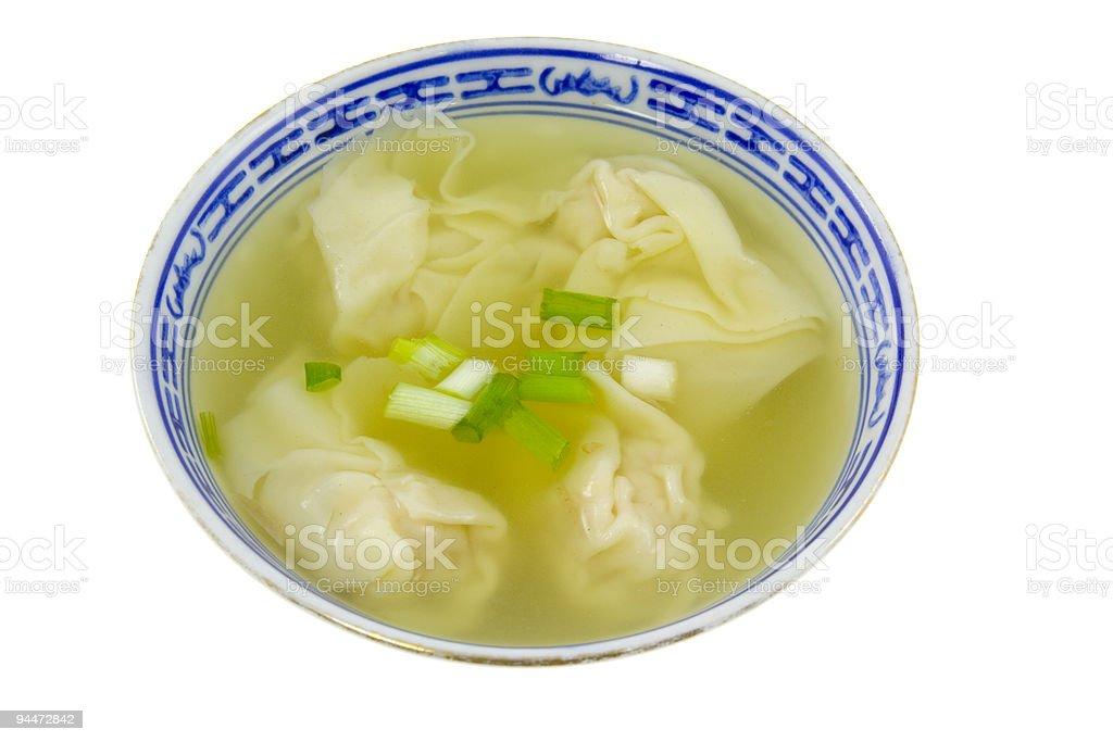 Dumpling soup stock photo