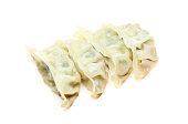 Dumplings in a white background