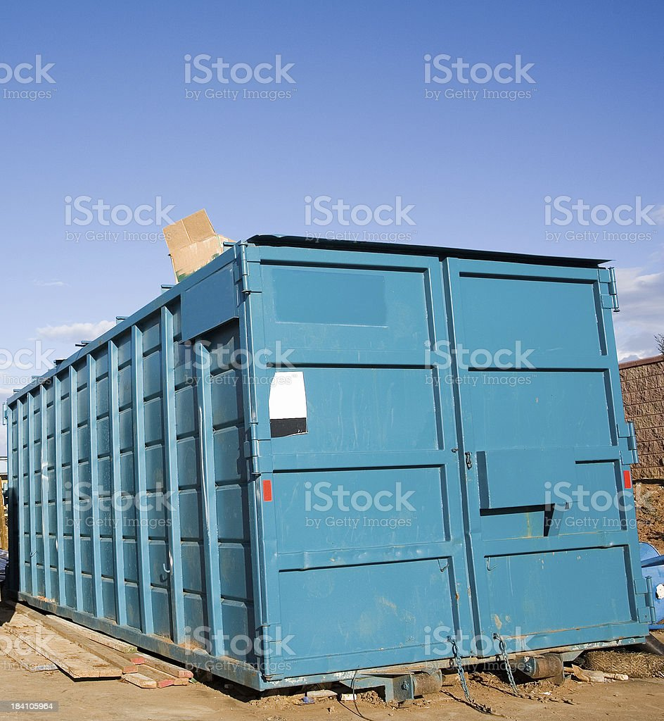 Dumpster Detail royalty-free stock photo