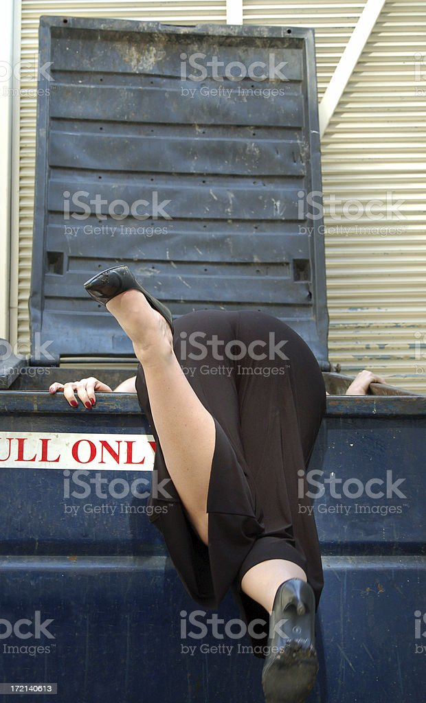 Dumpster Diving royalty-free stock photo