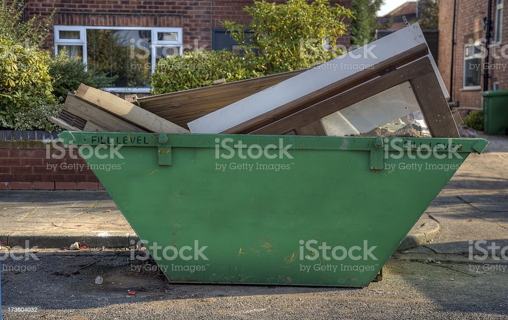 Dumpster or Skip-Click for related images royalty-free stock photo