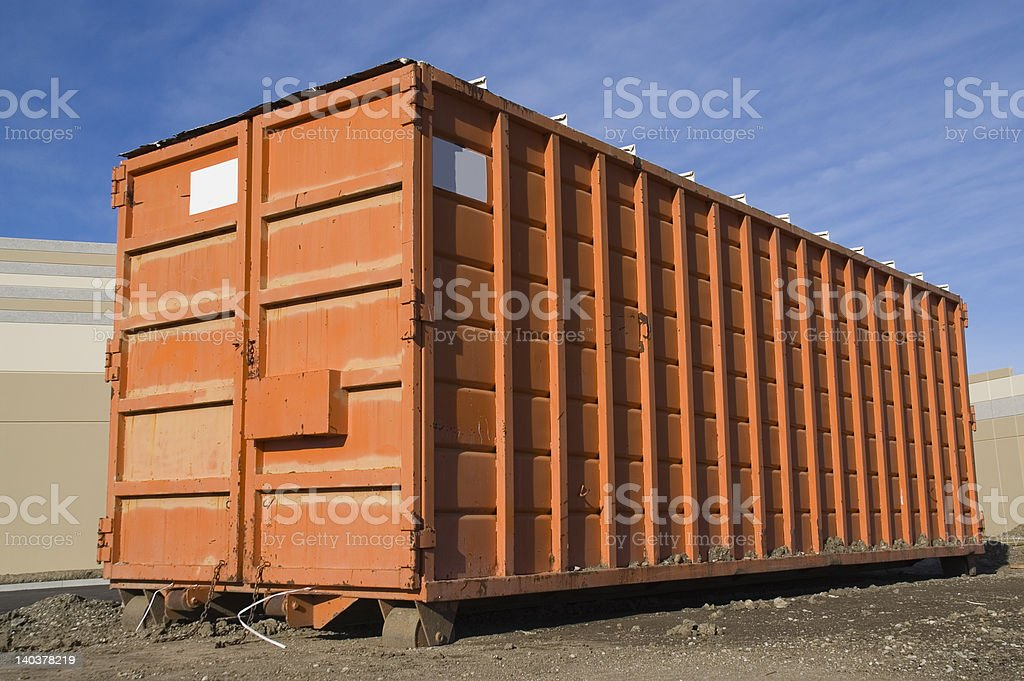 Dumpster stock photo