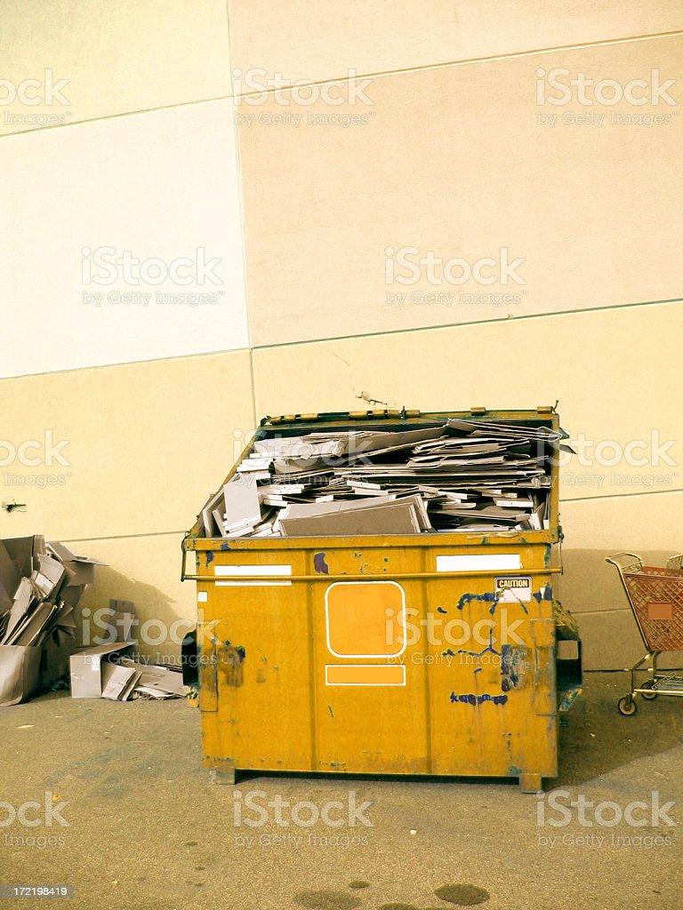 Dumpster royalty-free stock photo