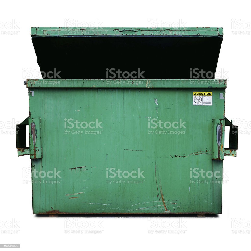 Dumpster (clipping path) stock photo
