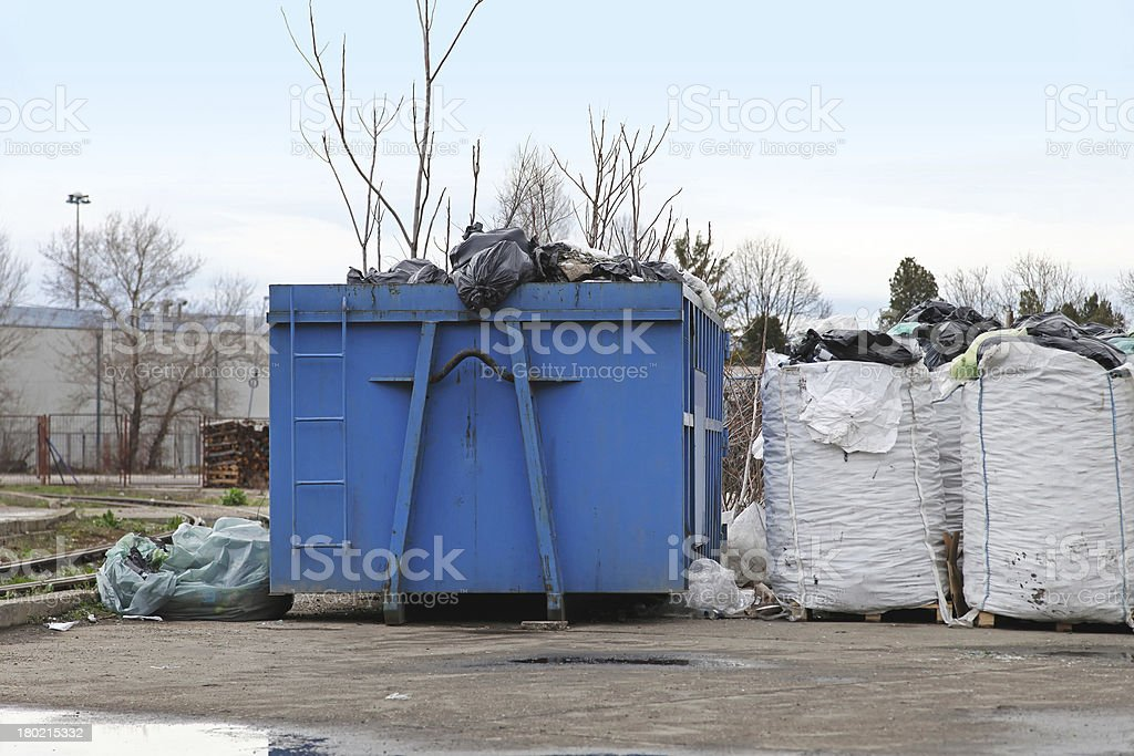 Dumpster recycling royalty-free stock photo
