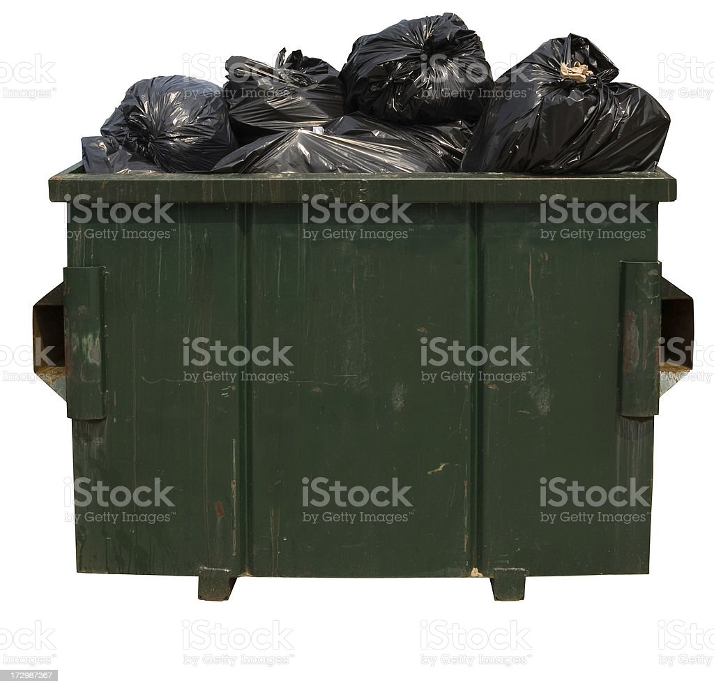 Dumpster with clipping path stock photo